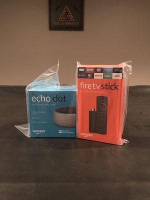 Amazon echo and fire tv stick bundle for Sale in Gainesville, VA