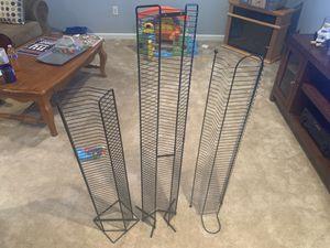 Wire movie storage racks for Sale in Bristow, VA