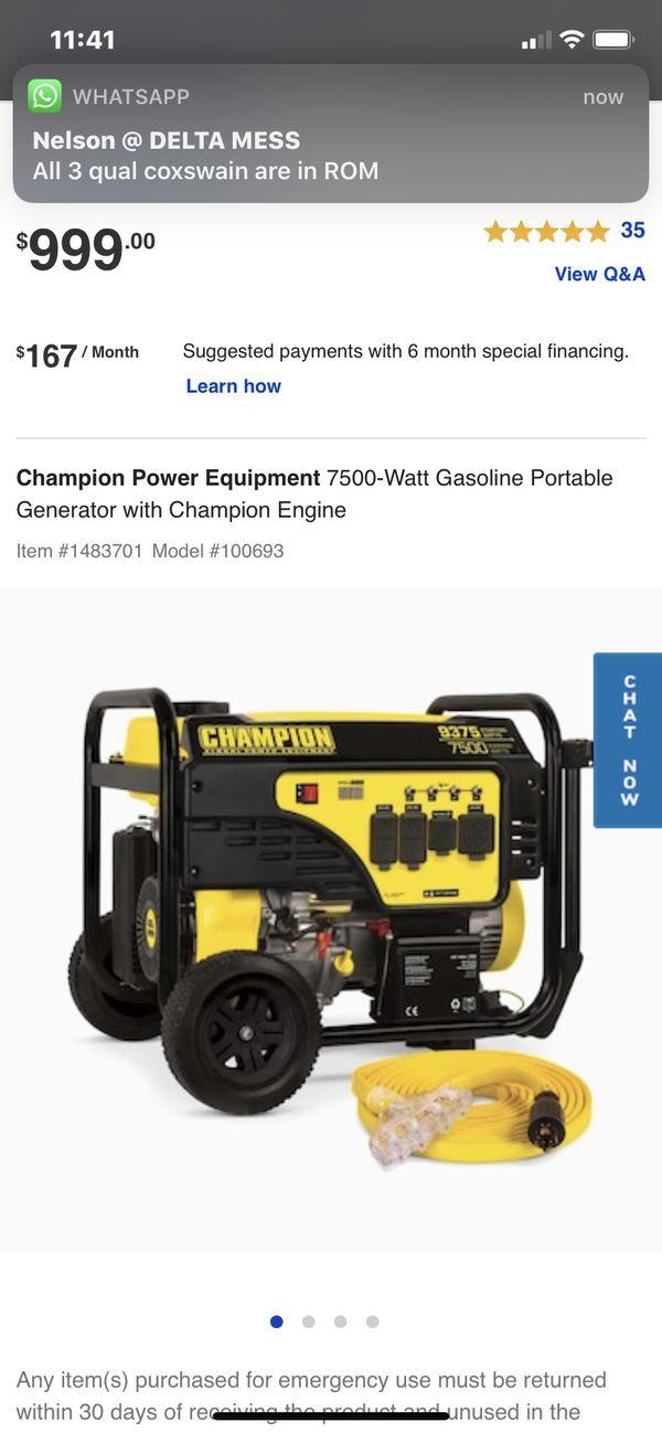 Champions Generator7500