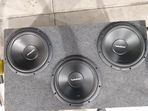 "3 Rockford fosgate 12"" in ported box for Sale in Mesa, AZ"