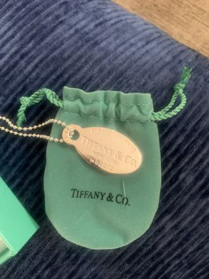 Original Tiffany women's sterling silver return to sender oval dog tag for Sale in New York, NY