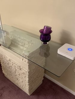 Living Room Glass Top Table Set - 4 Pieces for Sale in Edison,  NJ