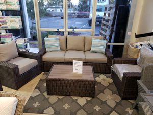 New 4pc outdoor patio furniture set deep seat tax included for Sale in Hayward, CA