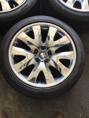 "2008 BMW 7 Series Chrome rims & tires 5 lug 19""*9 for Sale in Phoenix, AZ"