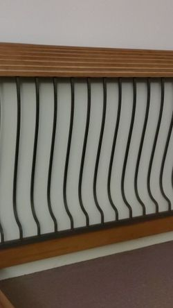 Cast Iron/Wood Queen Sleigh Bed Frame for Sale in Seymour,  CT