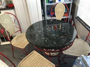 Granite top kitchen table and chairs for Sale in Delray Beach, FL