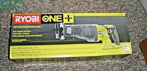 NEW RYOBI P 516 18-Volt ONE+ Cordless Reciprocating Saw (BARE TOOL) for Sale in St. Petersburg, FL