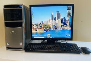 "GateWay Dual Core Desktop Computer, INTEL @2.8GHz, 2 Display Ready VGA/DVI, NVidia GF 8500 GT, 500GB HDD/4GB RAM/6USB,, 19"" Monit/Kepyb/Mou, Win10 Pro for Sale in Davie, FL"