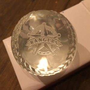 Texas rangers baseball glass collectible ball game season for Sale in Flower Mound, TX