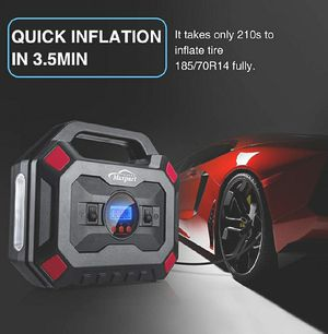 Tire Inflator 12V 150PSI Digital Air Compressor Pump Auto Car Tire Pump with Pressure Gauge LED Light, Long Cable and Auto Shut Off for Sale in Garden Grove, CA