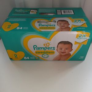 Pampers Swaddlers Size 2 Count 84 2X Softer for Sale in Atlanta, GA