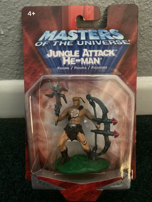 """Masters Of The Universe Jungle Attack He-Man 6"""" Action Figure 2002 MIP Mattel for Sale in Chino, CA"""