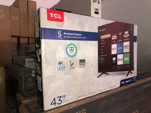 """43"""" TCL roku smart 4K led uhd hdr Tv for Sale in La Verne, CA"""