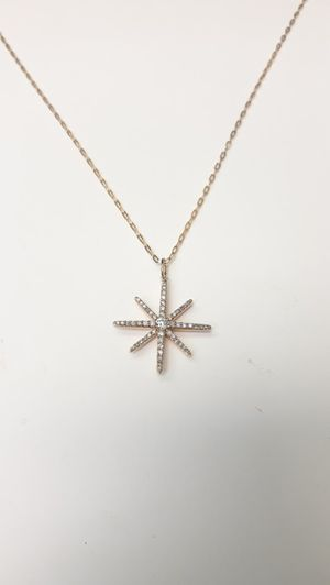 10k Diamond Star Charm Necklace 20 inches for Sale in Decatur, GA