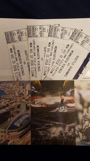 Seahawks vs Minnesota Monday night tickets for dec 10 for Sale in Richland, WA