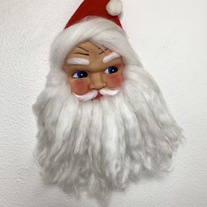 """Santa Claus Plastic/Rubber Face With Beard 12"""" Ornament Door Wall Hanging Wreath Vintage for Sale in Beaverton, OR"""