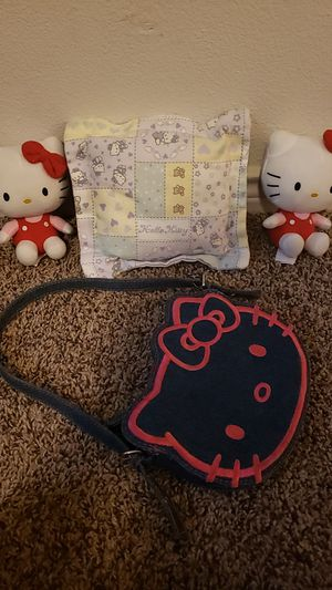 2 hello kitty plush hello kitty pillow & purse for Sale in San Antonio, TX