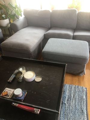IKEA sectional couch with ottoman for sale. $100. for Sale in Piedmont, CA