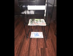 "Newspaper & Magazine Metal Rack 29""tall 17"" Wide & 12 1/2 Deep. Pick Up in Van Nuys CA for Sale in Los Angeles, CA"