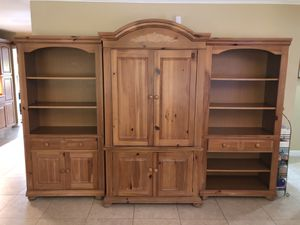 Broyhill armoire, bookshelves & hall table for Sale in Oakland Park, FL