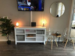 Minimal White Horizontal Bookcase with Adjustable Shelves for Sale in Saint Petersburg, FL