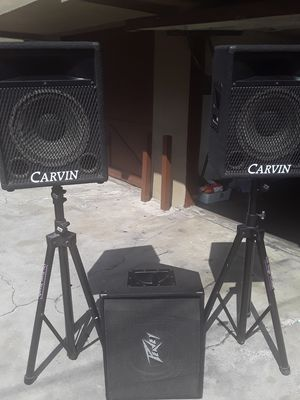 2 CARVIN SPEAKER AND 1 PEAVY MONITOR SPEAKER for Sale in Long Beach, CA