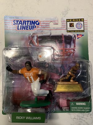 Starting lineup 1999 Ricky Williams Miami dolphins, New Orleans Saints,Texas Longhorns for Sale in Davie, FL