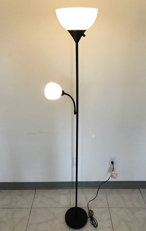 New in box $25 LED 2-Light Floor Lamp 6ft Tall w/ Adjustable Tilt Light Fixtures Home Living Room Office for Sale in South El Monte, CA