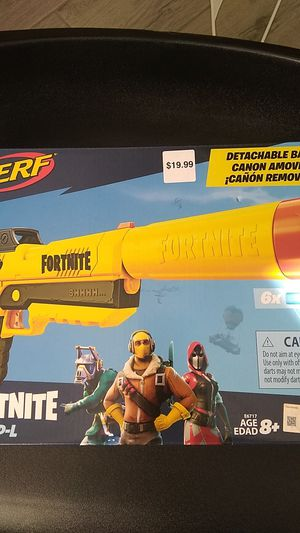 New, Nerf, fortnite, sp-l, fortnite gun, yellow, Nerf gun, toy, children, kids for Sale in Goodyear, AZ