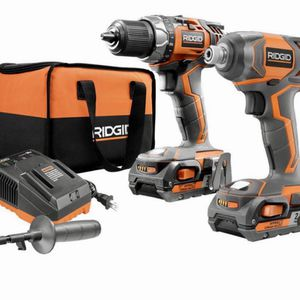 18-Volt Lithium-Ion Cordless Drill/Driver and Impact Driver 2-Tool Combo Kit with (2) 2.0 Ah Batteries, Charger, and Bag for Sale in Rosenberg, TX