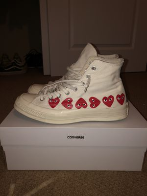 CDG converse multi heart white for Sale in Lafayette, CO