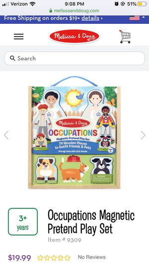 Melissa and Doug Occupations Magnetic Pretend Play Set for Sale in Las Vegas, NV