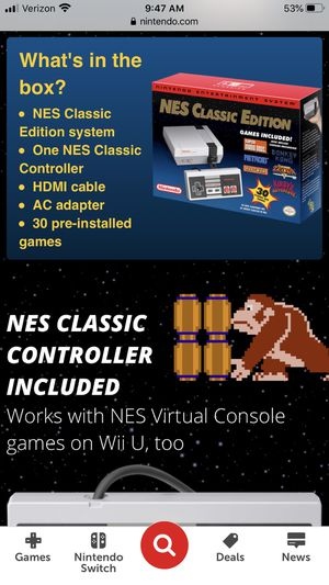 Nintendo NES classic edition for Sale in Yucaipa, CA