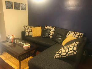 L-shaped couch + pillows for Sale in Cheverly, MD