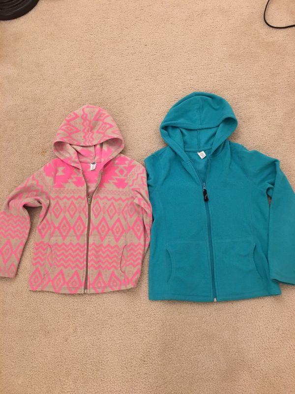 Fleece zip up hoodie jacket(2 for $10)