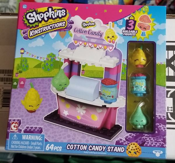 Shopkins Legos Cotton Candy Stand Set
