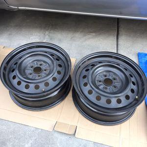 "Subaru Impreza black steel wheels rims 5x100 16"" for Sale in Los Angeles, CA"