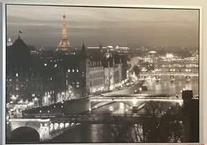 IKEA framed black and white portrait frame of Paris, France for Sale in Columbus, OH