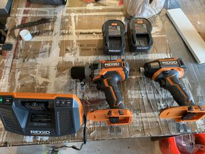 NEW RIGID DRILL AND IMPACT KIT WITH 2 Batteries for Sale in Wylie, TX