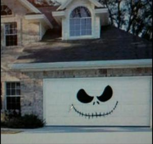Large jack Skelington garage door decal Halloween decor for Sale in Longview, WA