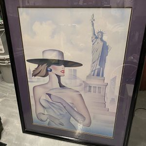 Large New York Statue Of Liberty Woman Picture for Sale in West Palm Beach, FL