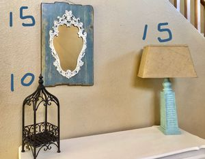 Mirror, lamp, candle holders and cute decor for Sale in Mesa, AZ
