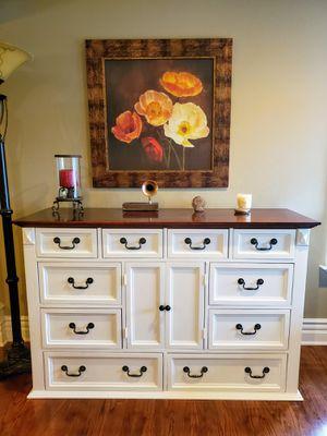 Antique Farmhouse White Wooden Dresser for Sale in San Jose, CA