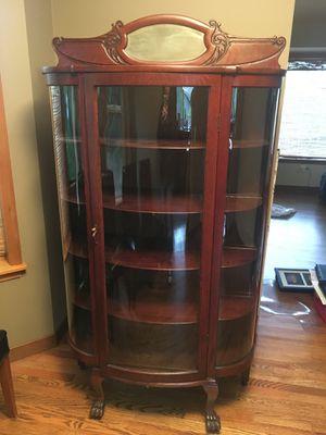 Antique Oak China Cabinet for Sale in Everett, WA