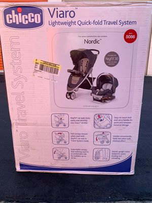 Chicco Nordic Viaro Baby Car Seat and Stroller Travel System for Sale in Westminster, CA