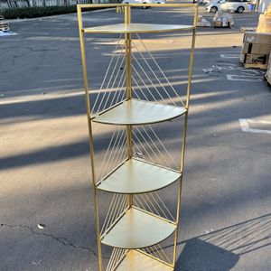 5–Tier Gold/Brass Foldable Storage Rack / Shelves for Sale in El Monte, CA