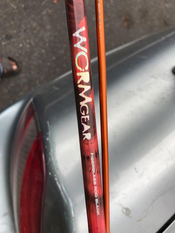 Worm gear Fiber glass rod and Okuma reel brand new
