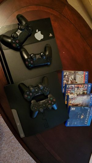Ps4 and Ps3 bundle, 2 Ps4 and Ps3 controllers, total 11 games + camera for Sale in ORCHARD GRASS, KY