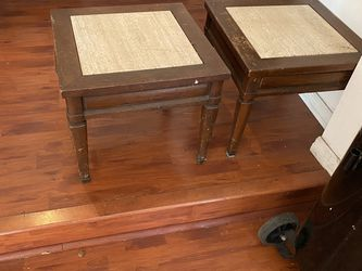 Antique Side Table with Italian Marble Inlay for Sale in Orlando,  FL