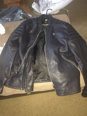 Gstar Raw Suzuki Motorcycle leather jacket xxl for Sale in Feasterville-Trevose, PA